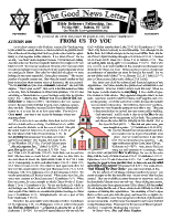 Autumn 1999 newsletter in English