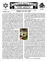 Autumn 2013 newsletter in English